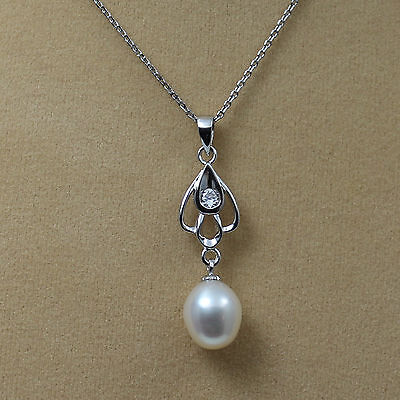 925 Sterling Silver Freshwater Pearl Necklace & Earrings Sets In Box