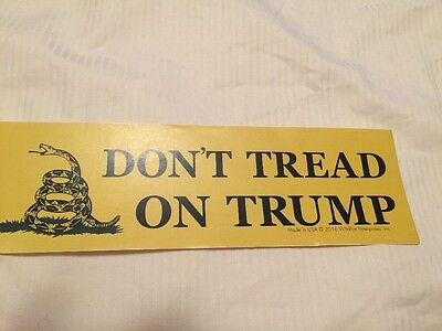 Don't Tread On Donald Trump Bumper Stickers Usa Anti Hillary