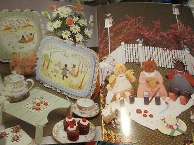 Cottage Dolls Painting Book-Living Tree-Bearleigh/Elizabeth/Daisy & Cross Stitch
