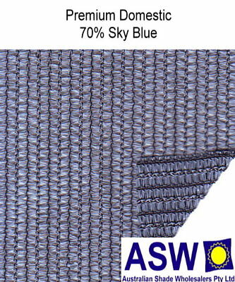 70% UV 3.66m (12') wide SKY BLUE SHADECLOTH Domestic Premium Knitted Shade Cloth