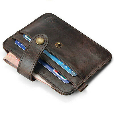 Mens Case Money Clip NEW ID Credit Card Business Leather Holder Key Wallet