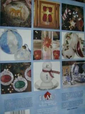Gallery Glass Holiday Ornaments Craft Painting Book Snowflakes, Crosses, Stars,