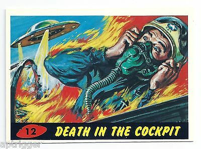1994 Topps MARS ATTACKS Base Card # 12 Death In The Cockpit