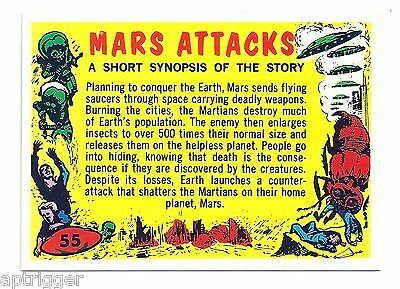 1994 Topps MARS ATTACKS Base Card # 55 Check List - A Short Synopsis