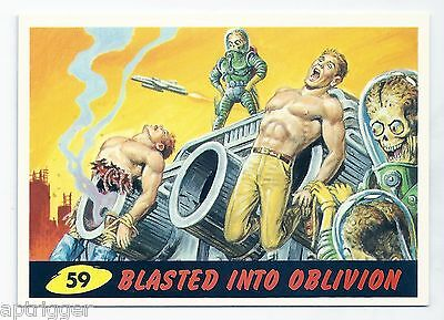 1994 Topps MARS ATTACKS Base Card # 59 Blasted Into Oblivion