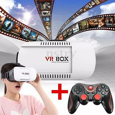 Remote Gamepad 3D Virtual Reality Box Glasses Goggles Headset Bluetooth AU Store