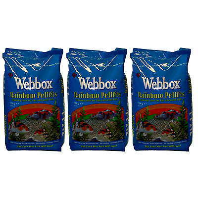30kg Webbox Rainbow Pellets KOI CARP & Pond Fish Food
