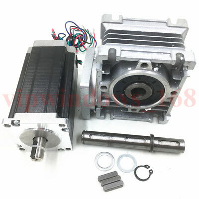 Nema23 Worm Gearbox 7.5:1 Stepper Motor 4.2A 22.5Nm L112mm Speed Reducer CNC