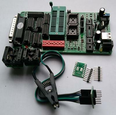 PCB5.0E PIC FLASH MPU EPROM Programmer for car bios +SOP8 , IC clip adapter