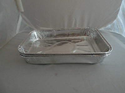 """Aprox 750 aluminium foil container 7""""x4.5""""x1""""catering,takeaway,deli,traybakes"""