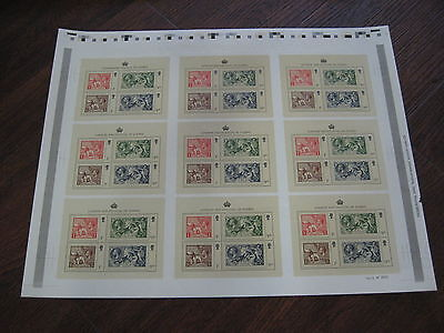 Press Sheet London 2010 Festival Of Stamp Miniature Sheet  Uncut Sg Ms3072  Mnh