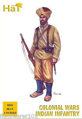 HAT 8203 COLONIAL WARS INDIAN INFANTRY. 48 x 1/72 SCALE PLASTIC FIGURES