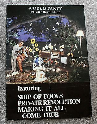 World Party Private Revolution 1986 Ship of Fools Making it all Music Poster GVG