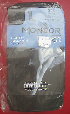 Mondor 345 Black Adult Footed Tights Dance Theater Ballet New Nylons size 10 -12