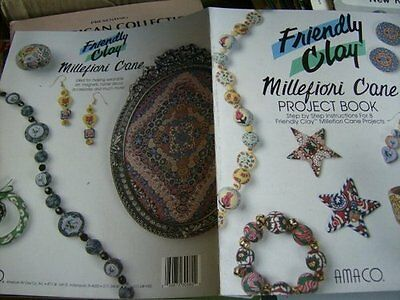 Friendly Clay Millefiori Cane Project Book With 8 Projects -Jewelry