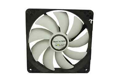 GELID SILENT 14cm 140mm PWM 4-pin Intelligent Low Noise Rubber Mount PC Case Fan