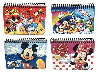 Lot of 4 Disney Minnie Mouse Mickey Mouse and Friends Spiral Autograph Book