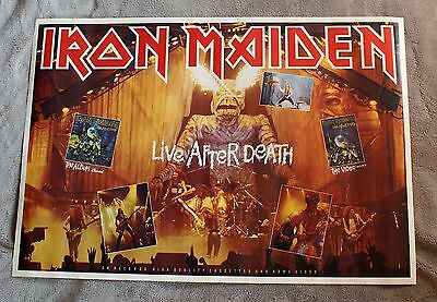 IRON MAIDEN Live After Death 1985 EDDIE LP Video Tape Photo Promo Poster VGEX