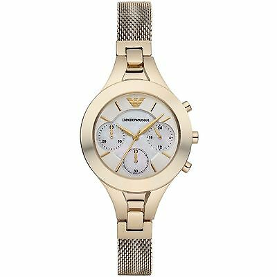 Emporio Armani® watch AR7390 Ladies  Gold steel mesh strap