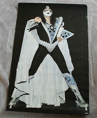 KISS Ace Frehley Solo 1979 Space Man White Cape Dynasty Music Poster VG C6