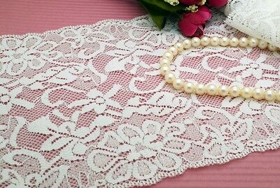 2 Yards150mm Lovely Off White Stretch Elastic Sewing Lace Trim Dress