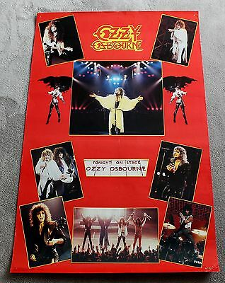 Ozzy Osbourne 8 Concert Pix 1986 Tonight on Stage Funky Music Poster #3069 VG C6