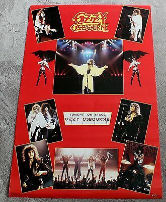 Ozzy Osbourne 8 Concert Pix 1986 Tonight on Stage Funky Music Poster #3069 VGEX