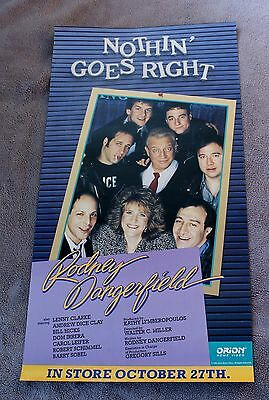 Nothin' Goes Right 1988 Rodney Dangerfield Andrew Dice Clay Video Poster EX C8