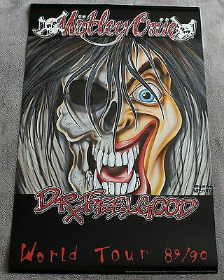 Motley Crue Dr. Feelgood 89-1990 World Tour Brockum Music Poster #MYP002 EX C8