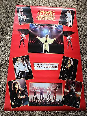 Ozzy Osbourne 8 Concert Pix 1986 Tonight on Stage Funky Music Poster #3069 VG.