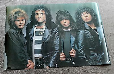 Quiet Riot 1980s Frankie Banali Chuck Wright Alex Grossi RO127 Music Poster VGEX