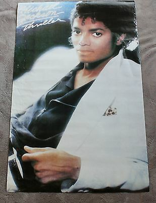 Michael Jackson Thriller White Jacket Black Zipper Shirt 1982 Music Poster GVG