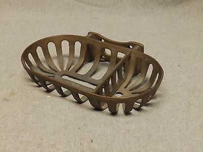 Vintage Brass Heavy Duty Industrial Old Soap Sponge Dish Bathroom Fixture 790-16