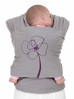 Authentic MOBY WRAP Infant Sling/Baby Carrier-Lotta Collection-BLOMSTER