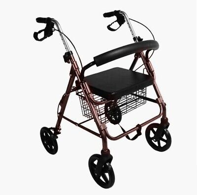 "Aluminium Blue Rollator Walker Medical Aid Walking Frame 8"" wheels (Pick Up Av.)"
