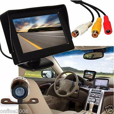 "4.3"" TFT LCD Car Rearview Backup Monitor + Wireless Parking Camera Night Vision"