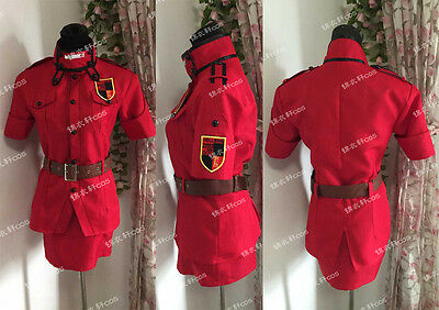Hellsing Ultimate Victoria Seras Cosplay Costume Ver.Red Any Size