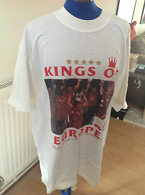 Kings of Europe Liverpool 2004 Tour T Shirt  sz L