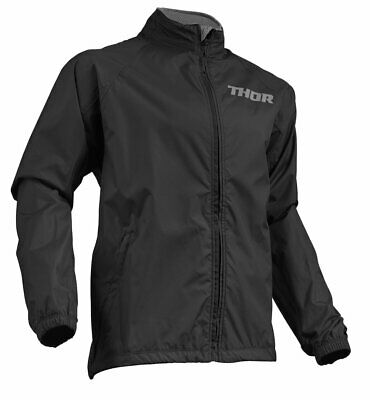 Thor S19 Pack Over Jacket Adult Black Off Road Enduro Trail Waterproof Cheap Atv