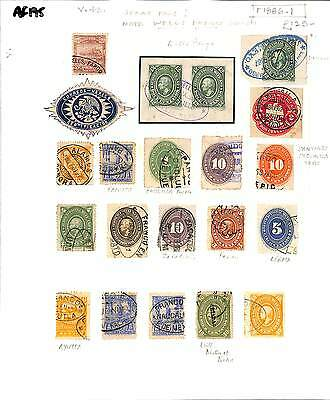 AF195 1886 MEXICO Stamps x 21 on page