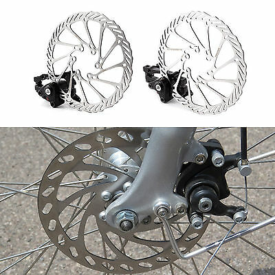 Front/Rear Caliper Disc Brake 160mm Rotor for Mountain Road Bicycle Bike