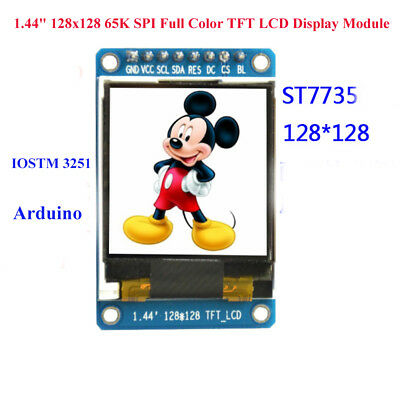 "1.44"" 128x128 65K SPI Full Color TFT LCD Display Module replace OLED for Arduino"
