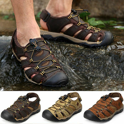 Men Casual Beach Closed Toe Fishermans Hiking Sport Strap Outdoor Sandals