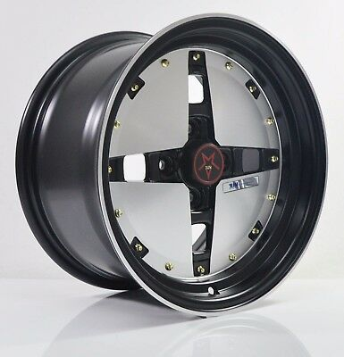 4PCS JUN HOSHINO 15 inch Mag Wheels Rim 4X100 Alloy wheel Car Rims SY5026 FB-1