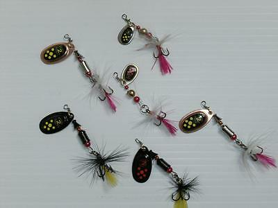 6 x spinner lures for pike perch trout salmon bass sea rock fishing 2g to 5g