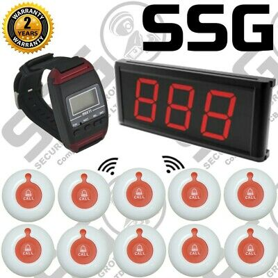 Z9S7- Wireless Nurse Call System | 10 Panic Buttons | Y-650 Wireless Wrist Pager