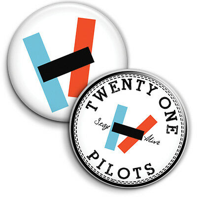 Twenty One Pilots 2 x Button Badge Pin Back - 25mm 1 inch, 21 Pilots Indie Music