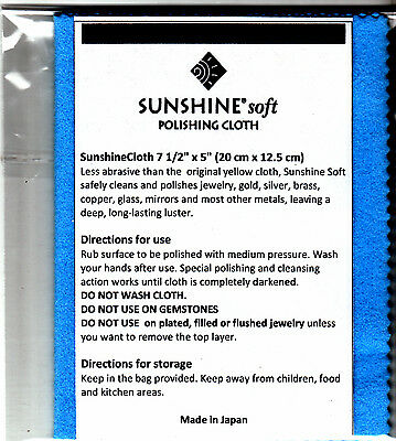 New Sunshine Soft Blue Polishing Cloth Jewelry Cleaner Silver Gold Copper