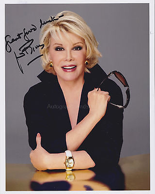Joan Rivers HAND SIGNED 8x10 Photo Autograph, Comedienne Female Comedian