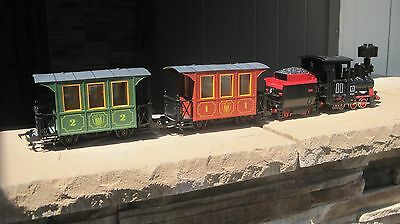 Faller Germany E-Train Steam Locomotive & Tender With Passenger Cars